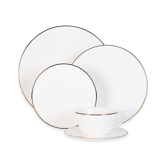 Alternate image 1 for Olivia & Oliver® Madison Gold 5-Piece Place Setting