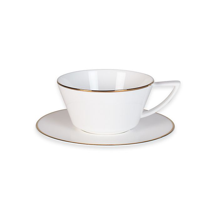 Alternate image 1 for Olivia & Oliver® Madison Gold Cup and Saucer