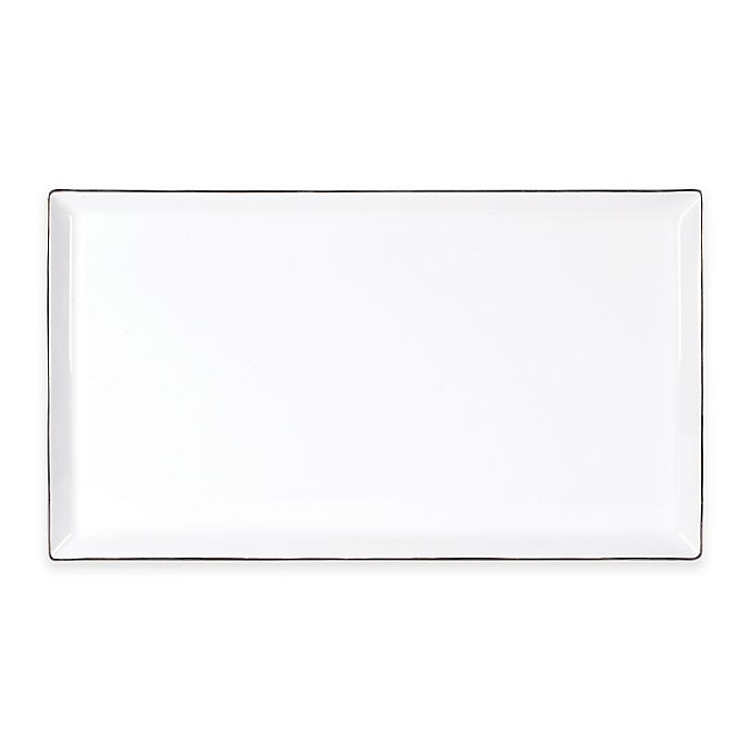 Alternate image 1 for Olivia & Oliver™ Madison Platinum 16-Inch Rectangular Platter