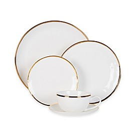 Olivia & Oliver® Harper Organic Shape Gold 5-Piece Place Setting