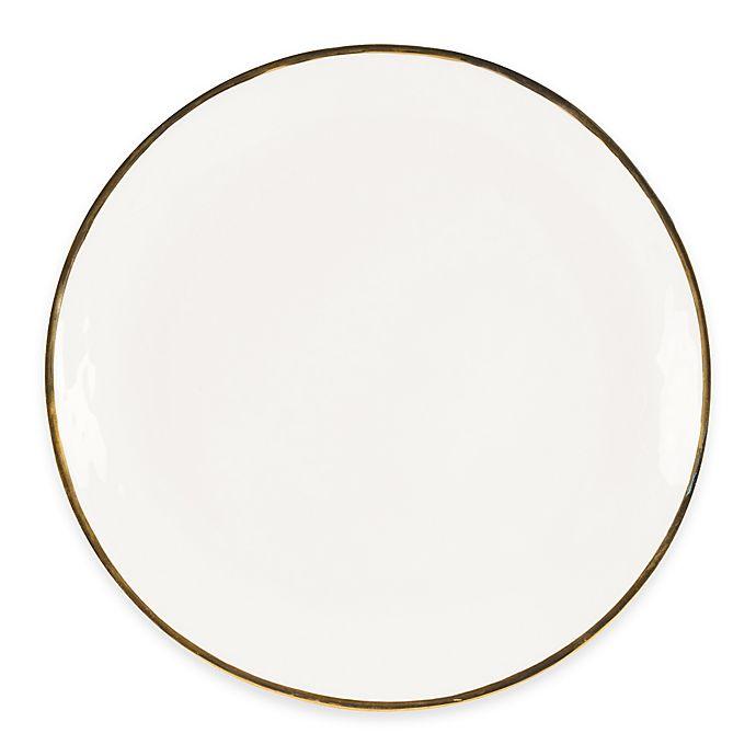 Alternate image 1 for Olivia & Oliver™ Harper Organic Shape Gold 13-Inch Round Platter