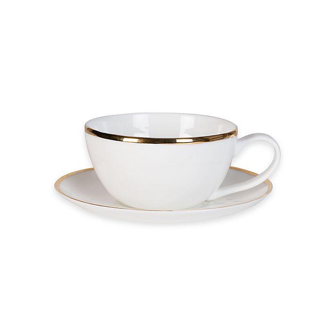 Alternate image 1 for Olivia & Oliver Harper Organic Shape Gold Cup and Saucer