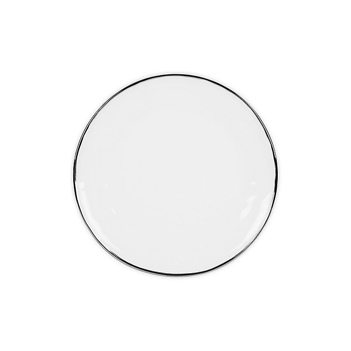 Alternate image 1 for Olivia & Oliver™ Harper Organic Shape Platinum Salad Plate
