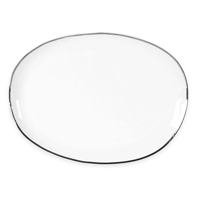 Alternate image 1 for Olivia & Oliver™ Harper Organic Shape Platinum 16-Inch Oblong Platter