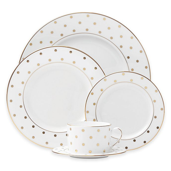 Alternate image 1 for kate spade new york Larabee Road™ Gold Dinnerware Collection