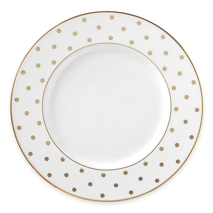 Alternate image 1 for kate spade new york Larabee Road™ Gold Accent Plate