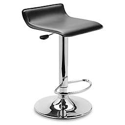Airlift Adjustable Faux Leather Stool