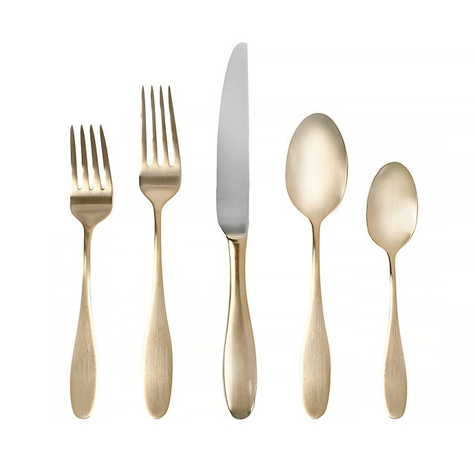 Alternate image 1 for Towle® Living Ashwell Gold 20-Piece Flatware Set