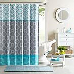 Intelligent Design Clara Blue Shower Curtain