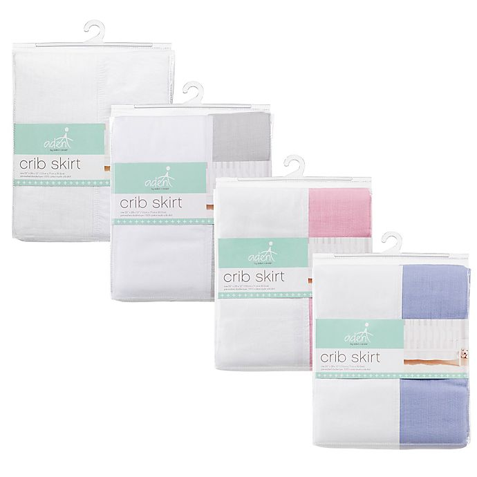 Alternate image 1 for aden + anais™ essentials Crib Skirts