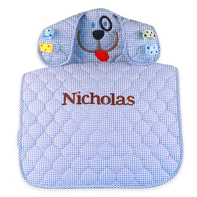 Alternate image 1 for Silly Phillie® Creations Puppy Changing Mat in Blue