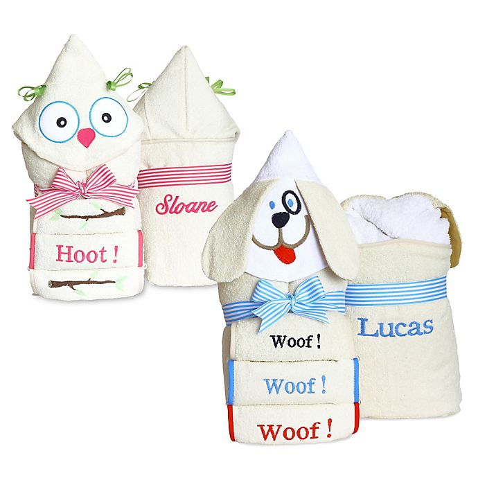 Alternate image 1 for Silly Phillie® Creations Puppy Hooded Baby Towel Set