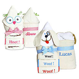 Silly Phillie® Creations Puppy Hooded Baby Towel Set