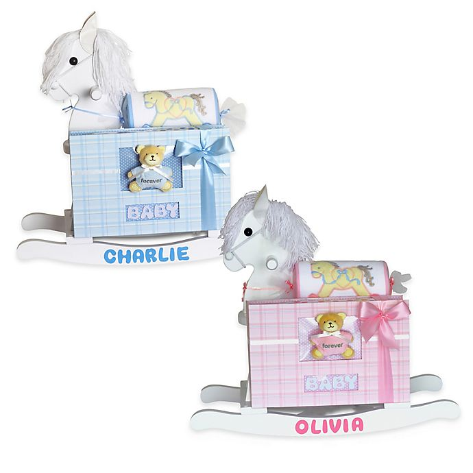 Alternate image 1 for Silly Phillie® Creations Keepsake Rocking Horse Baby Gift Set