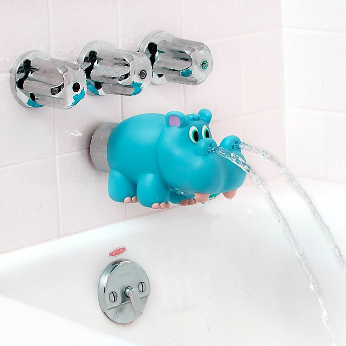 Alternate image 1 for Nûby™ Hippo Water Spout Cover in Blue