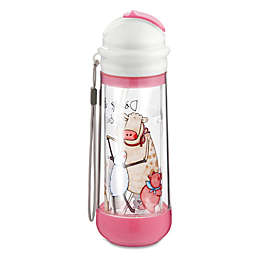 Nikiani Drinkadeux™ Sip Art 14 oz. Double Wall Glass Bottle with Straw in Pink
