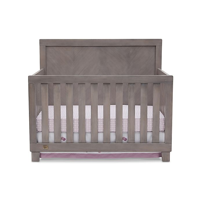 Alternate image 1 for Simmons Kids® Bellante 4-in-1 Convertible Crib in Stained Grey