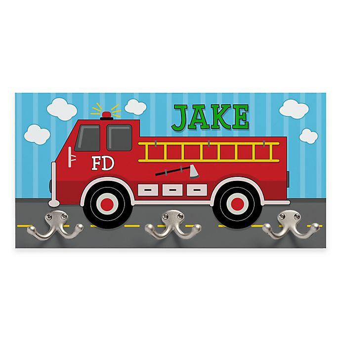 Alternate image 1 for Fire Truck Coat Hanger