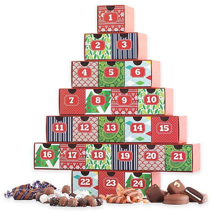 Alternate image 1 for Mrs. Prindables Holiday Christmas Advent Calendar with Assorted Chocolates