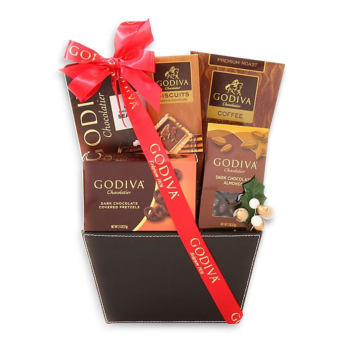 Alternate image 1 for Godiva Dark Chocolate Lovers Gift Basket