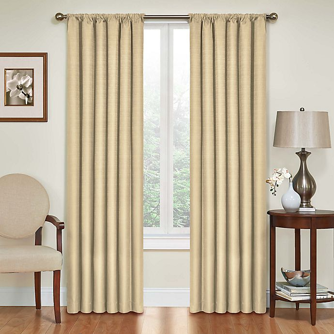 Alternate image 1 for SolarShield® Kate 84-Inch Rod Pocket Blackout Window Curtain Panel in Café