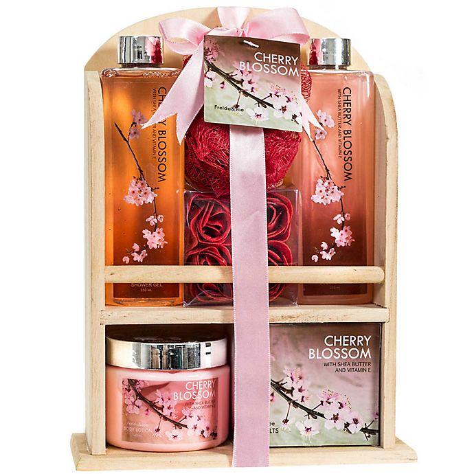 Alternate image 1 for Freida & Joe Wood Cherry Fragrance Spa Gift Set