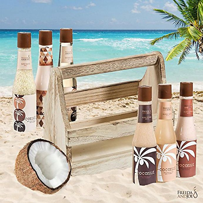 Alternate image 1 for Freida & Joe Tropical Coconut Bath & Body Gift Set