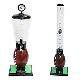 Drink Tubes™ Football Drink Dispenser with Upgraded Tap in Brown