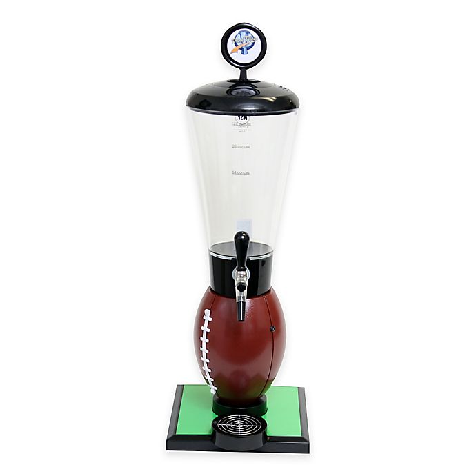 Alternate image 1 for Drink Tubes™ Football 128 oz. Drink Dispenser with Upgraded Tap in Brown