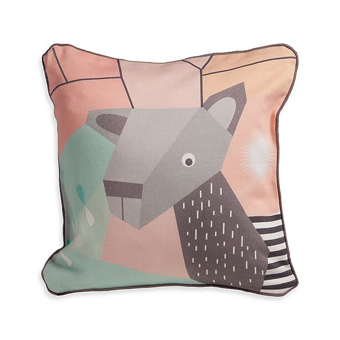 Alternate image 1 for Nursery Works Wee Gallery Organic Cotton Menagerie Deer Toddler Pillow