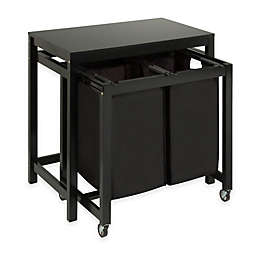 Honey Can Do Reg Double Laundry Sorter And Folding Table In Black