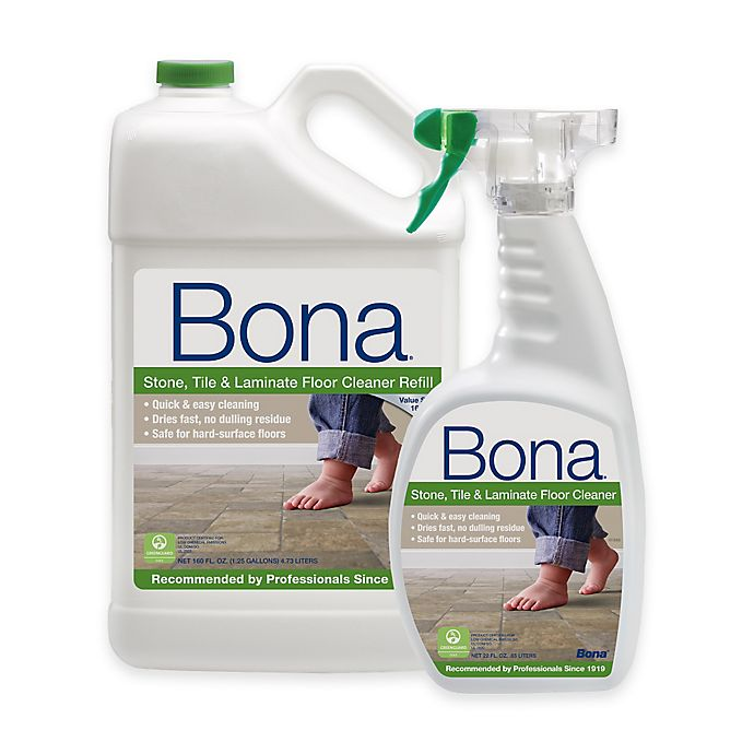 Bona 160 Oz Stone Tile And Laminate Floor Cleaner Refill With 22