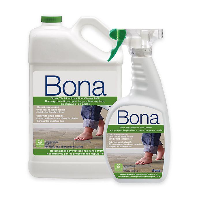 Alternate image 1 for Bona® 160 fl. oz. Hard-Surface Floor Cleaner Refill with 22 fl. oz. Spray Bottle