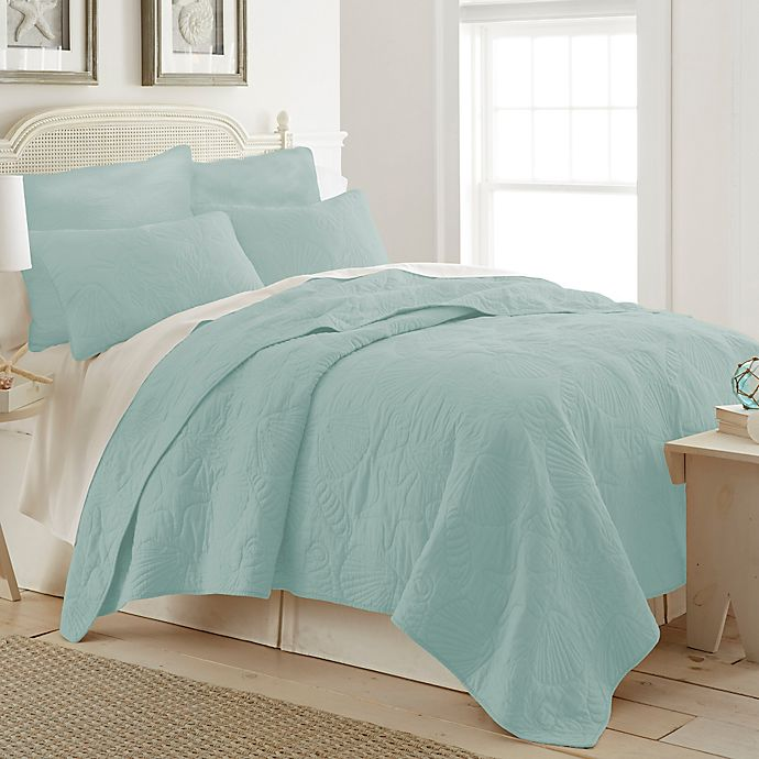 Alternate image 1 for Ocean View Twin Quilt in Light Blue