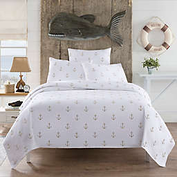 Lamont Home™ Anchors European Pillow Sham In White/Tan