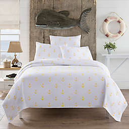 Lamont Home™ Anchors Twin Coverlet in White/Yellow