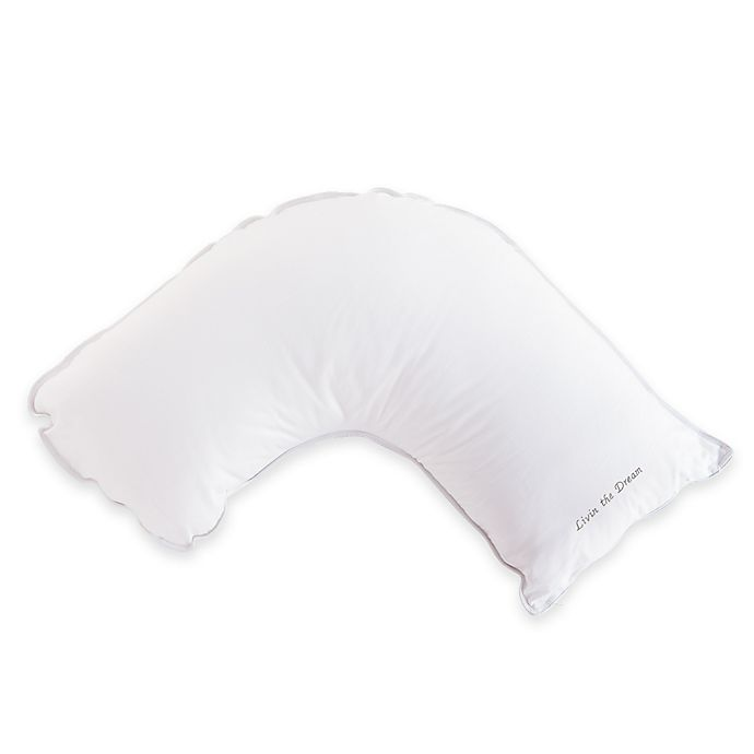 Alternate image 1 for The Pillow Bar® Breakfast in Bed™ Side Sleeper Small Frame Down Alternative Pillow in White