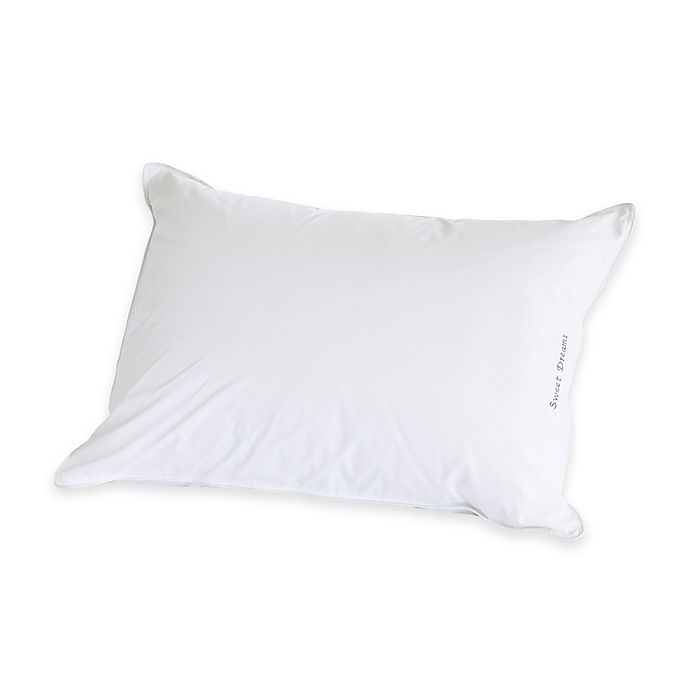 Alternate image 1 for The Pillow Bar® Breakfast in Bed™ Back Sleeper Standard Down Alternative Pillow in White