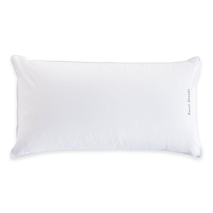 Alternate image 1 for The Pillow Bar® Back Sleeper King Down Pillow in White