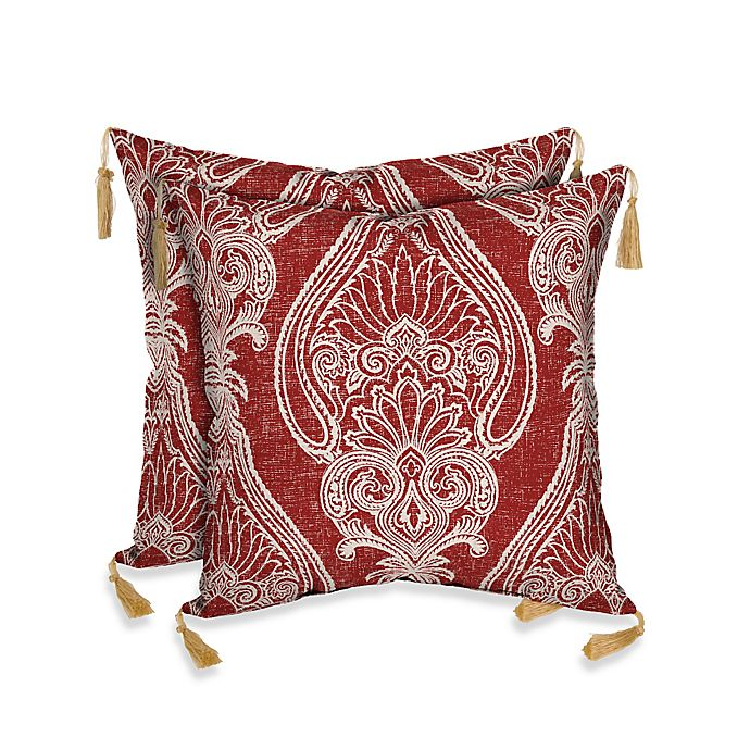 Bombay Delhi Paisley Outdoor Throw Pillow In Red Bed Bath Beyond