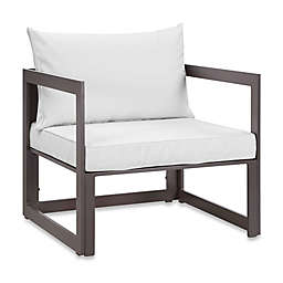 Modway Fortuna Outdoor Patio Armchair in White