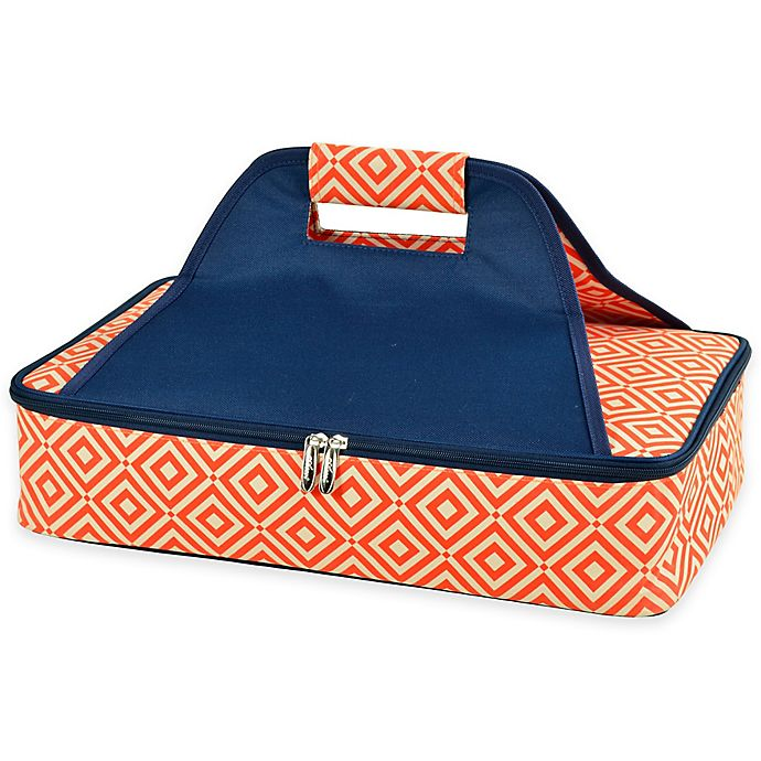 Alternate image 1 for Picnic at Ascot Thermal Food Carrier in Orange/Navy