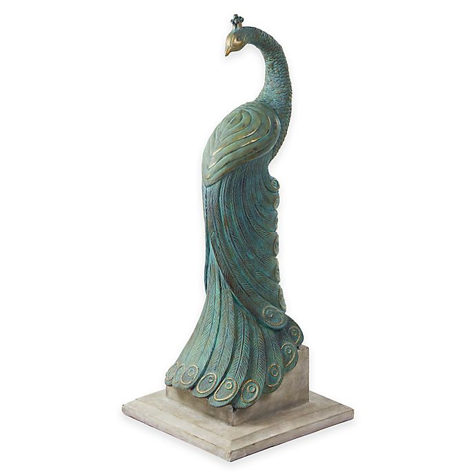 Alternate image 1 for Bombay® Royal Peacock Outdoor Statuary
