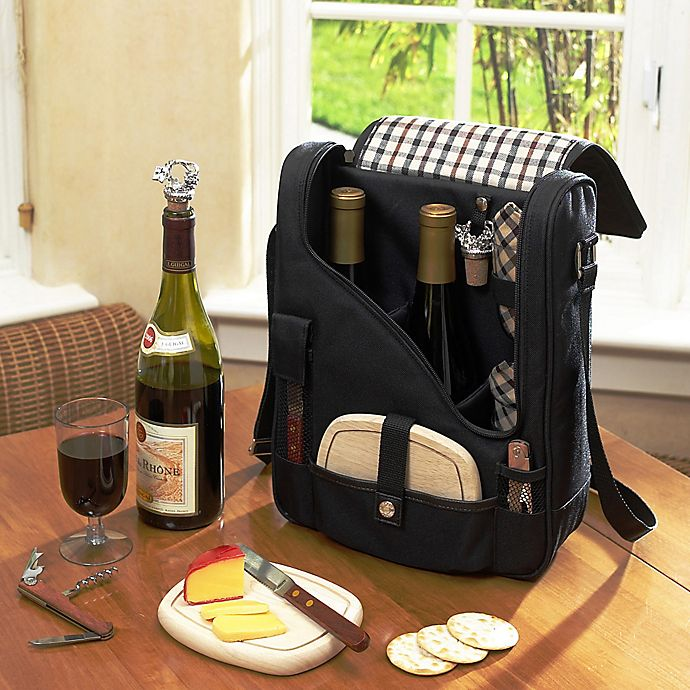 Alternate image 1 for Picnic at Ascot London Pinot Two Bottle Wine & Cheese Cooler