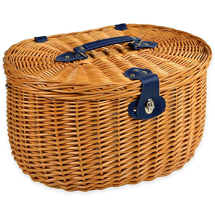 Alternate image 1 for Picnic at Ascot Ramble Willow Picnic Basket for 2