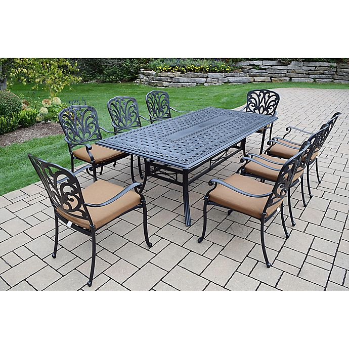 Alternate image 1 for Oakland Living Clairmont 9-Piece Outdoor Dining Set in Antique Bronze