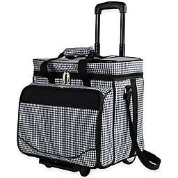 Picnic at Ascot Houndstooth Collection Picnic Cooler for 4 with Wheels