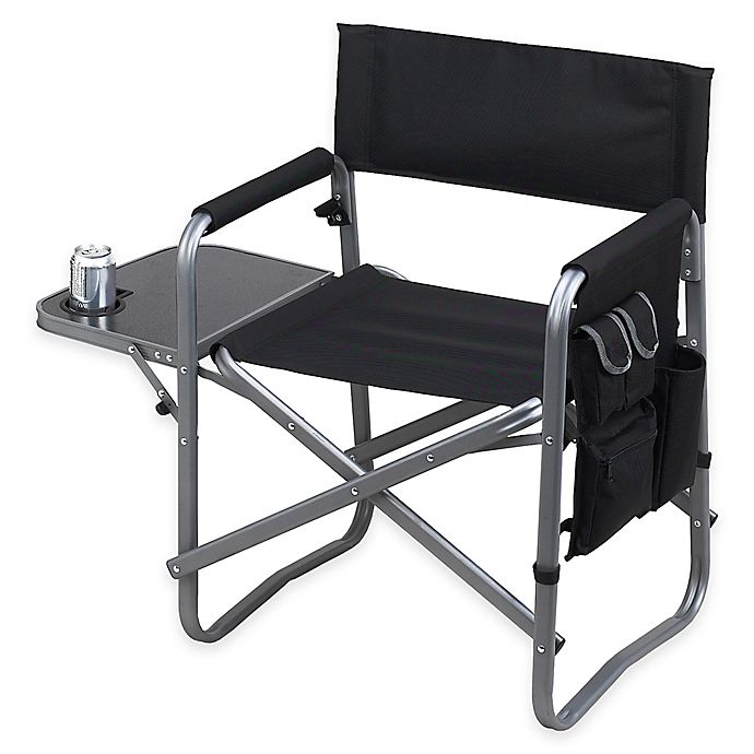 Picnic At Ascot Aluminum Folding Camping Chair With Side Table Bed