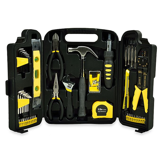 Alternate image 1 for 129-Piece Home Toolkit in Black
