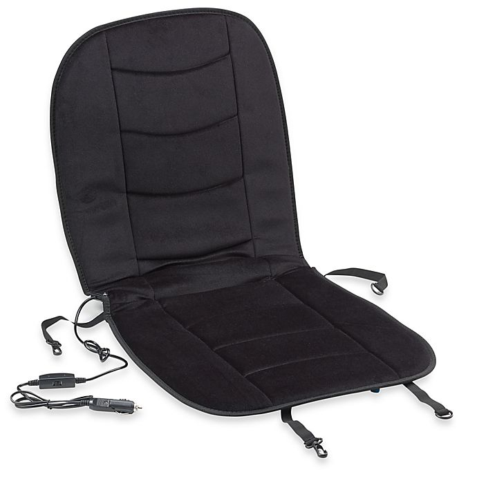 Alternate image 1 for Luxury Heated Car Seat Cushion in Black